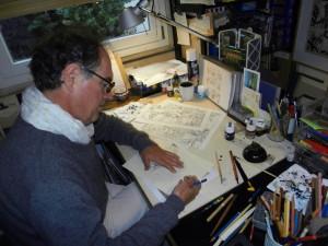 André Juillard au dessin