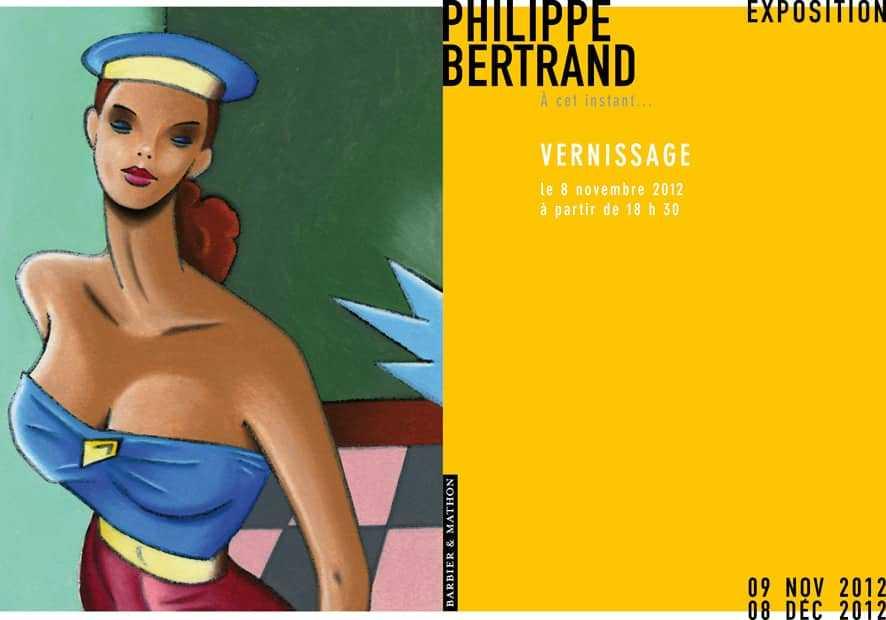 Exposition Philippe Bertrand le 8 novembre chez Barbier et Mathon à Paris