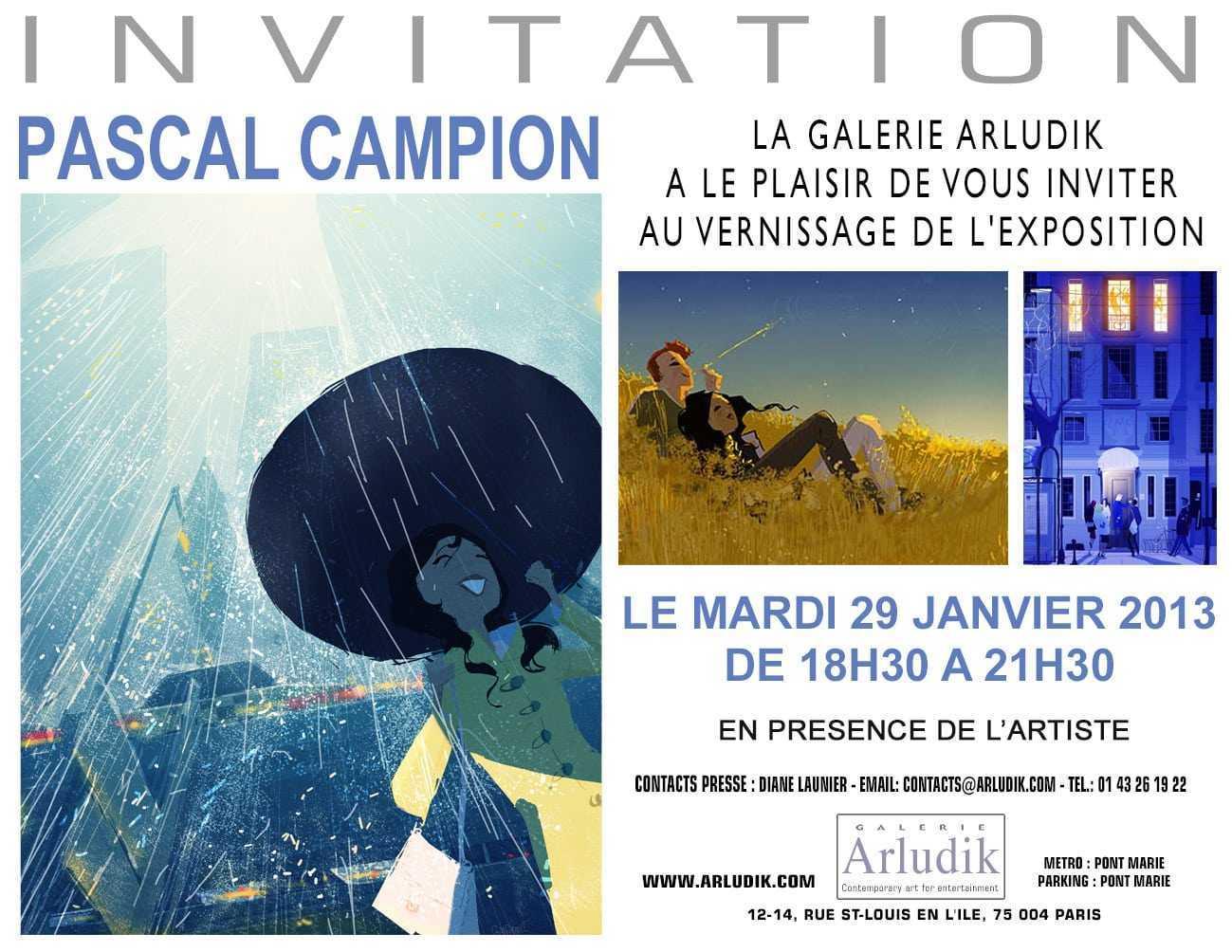 Pascal Campion expose chez Arludik à Paris