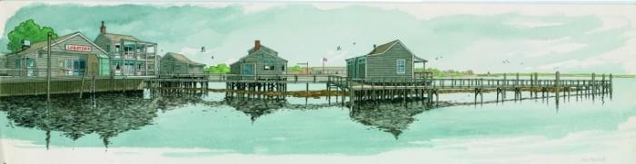 Nantucket, dessin pour un hommage à Hopper pour Géo