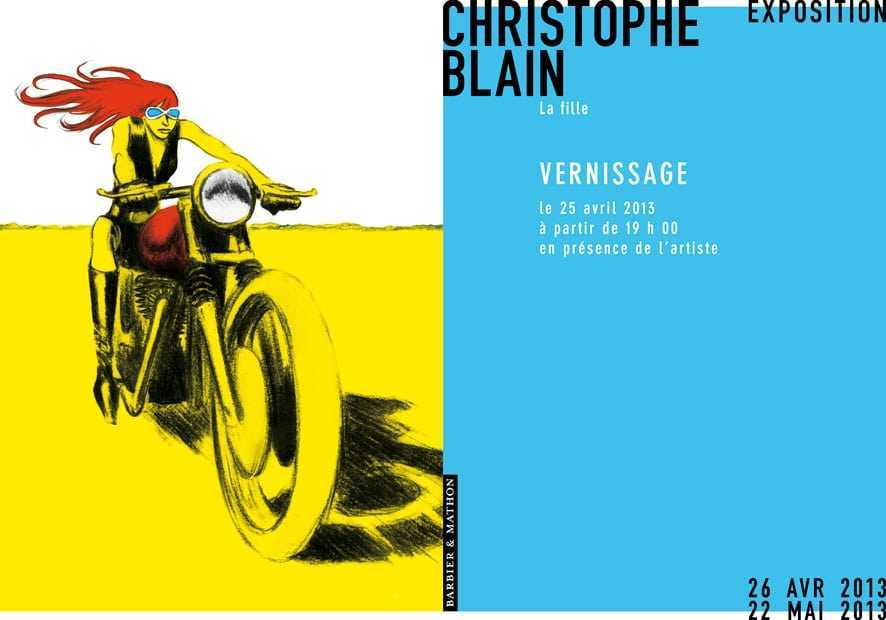 Christophe Blain, exposition chez Barbier Mathon à Paris