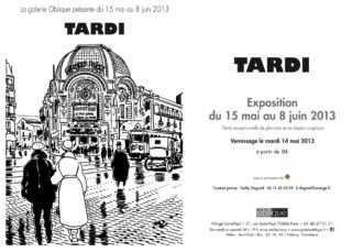 Tardi expose à la galerie Oblique à partir du 15 mai