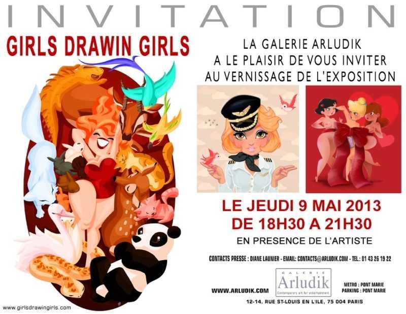 Exposition Girls Drawin'Girls