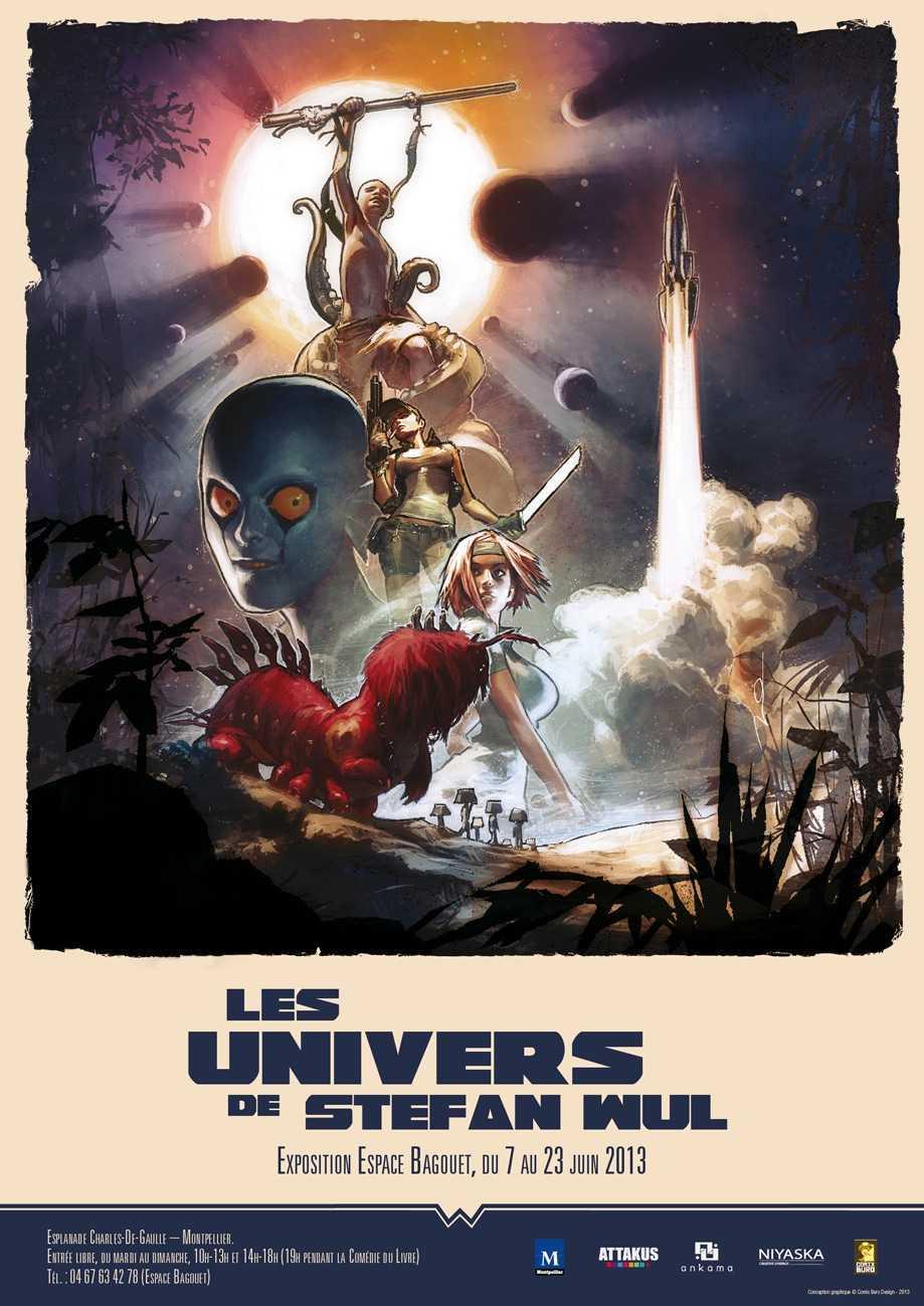 Les Univers de Wul s'exposent à Montpellier du 7 au 23 juin avec Comix Buro, Attakus et Ankama