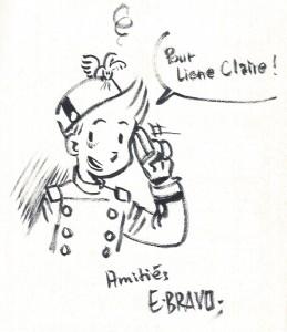 Dédicace d'Émile Bravo