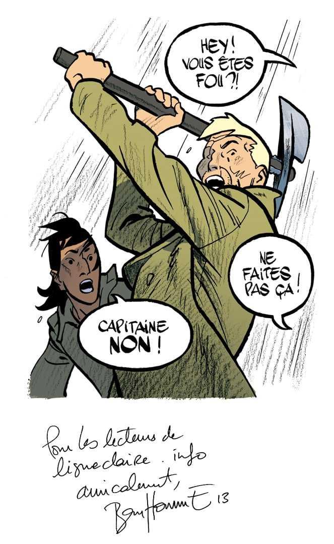 Dédicace de Matthieu Bonhomme