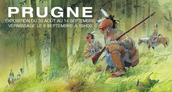 Pour Pawnee, Patrick Prugne expose chez Maghen à Paris