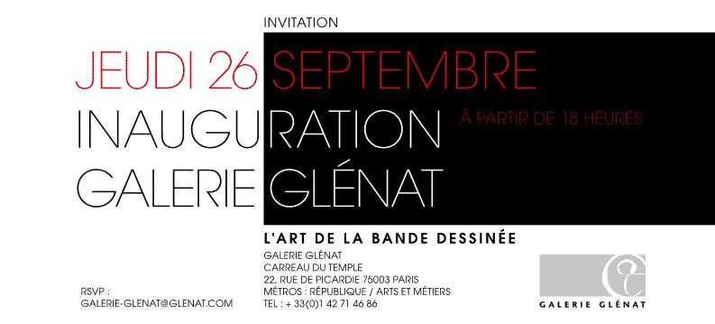 La Galerie Glénat ouvre ses portes à Paris