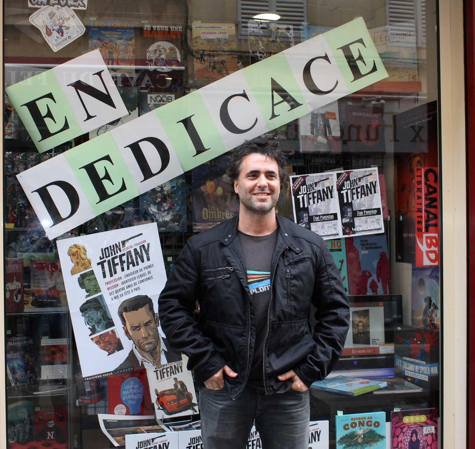 Dan Panosian, dessinateur de John Tiffany, en dédicace à Aix en Provence