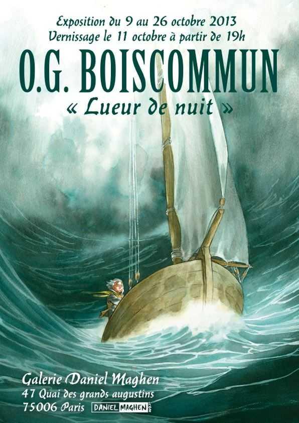 Boiscommun expose Lueur de Nuit chez Maghen à Paris