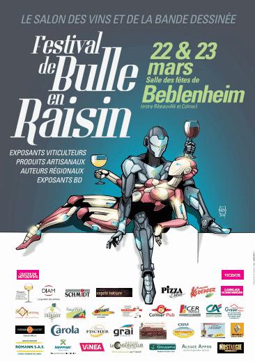 Salon Bulle en Raisin, c'est en Alsace les 22 et 23 mars