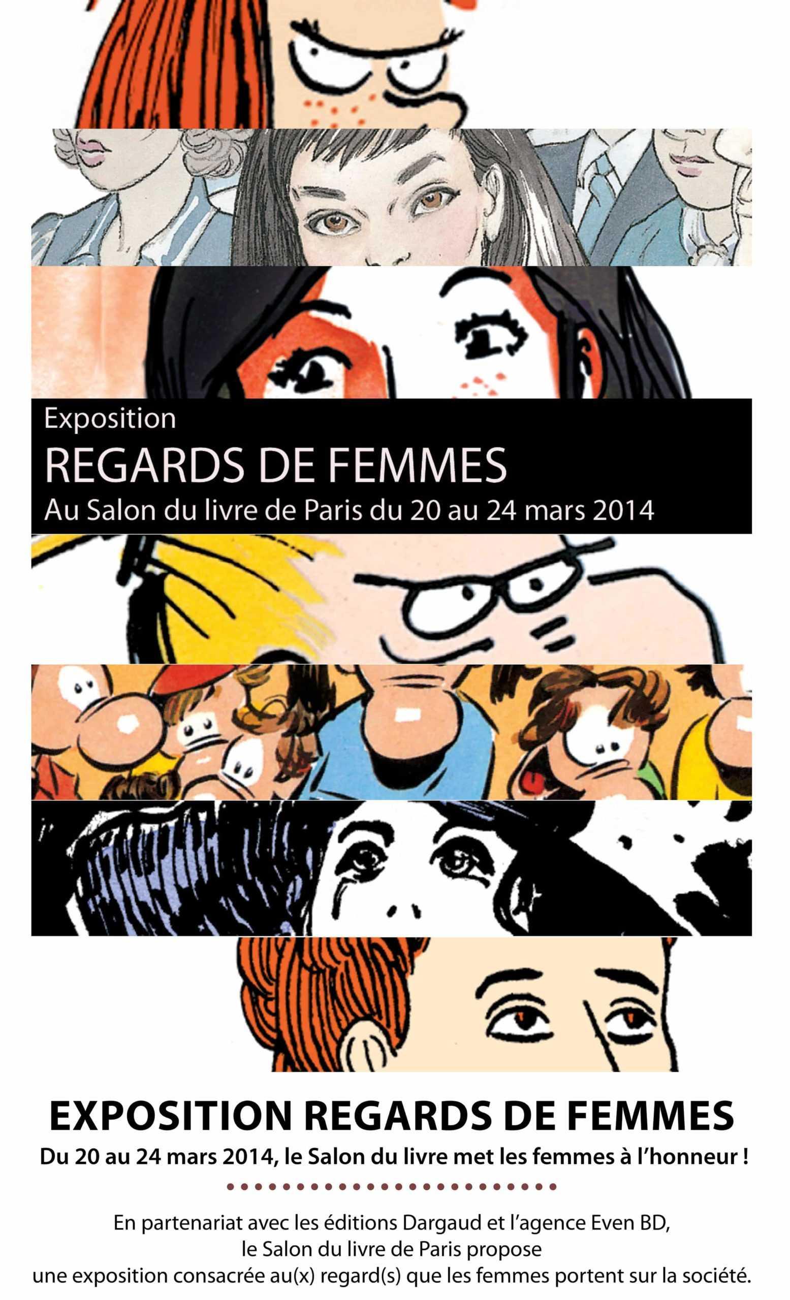 Salon du Livre à Paris, l'exposition Regards de femmes le 22 mars