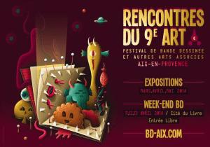 Affiche Rencontres du 9e art à Aix-en-Provence 2014