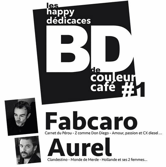 Aurel et Fabcaro pour un apéro-dédicace à Prades-le-Lez samedi 26 avril