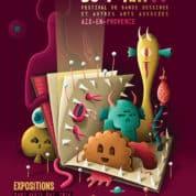 Rencontres du 9e art à Aix du 11 au 13 avril 2014, les expositions et les auteurs