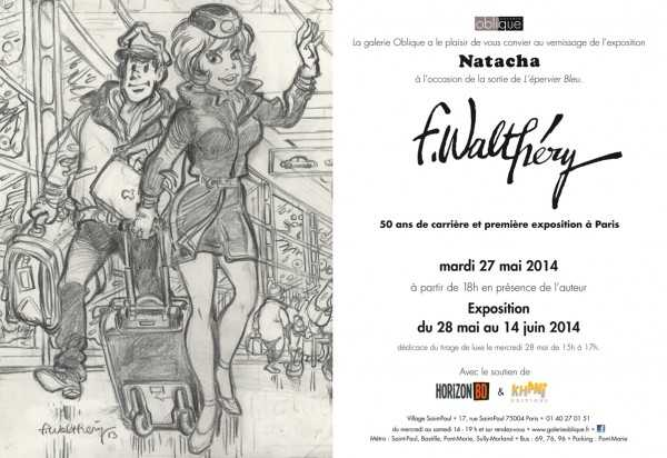 Walthéry expose Natacha à la Galerie Oblique à Paris