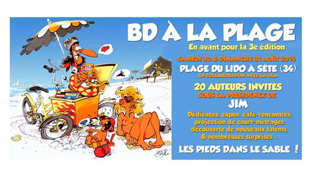 BD à la plage à Sète 2014