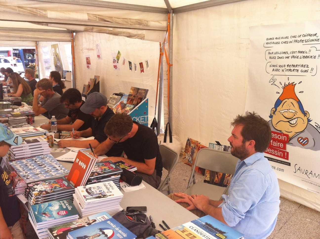 Auteurs à Odysseum Montpellier, sous le soleil les bulles