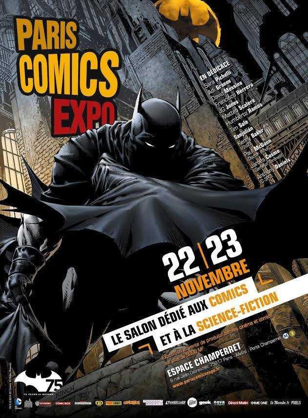 Paris Comics Expo 2014 à Paris les 22 et 23 novembre