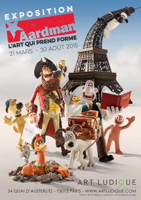 Wallace et Gromit, Shaun le mouton chez Art Ludique-Le Musée à Paris pour l'exposition Aardman