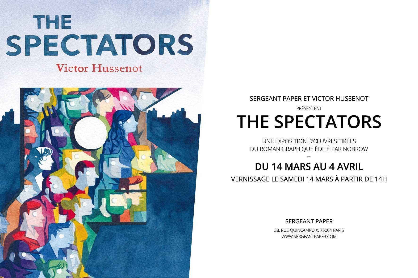 The Spectators, une exposition pour découvrir chez Sergeant Paper à Paris le talent de Victor Hussenot
