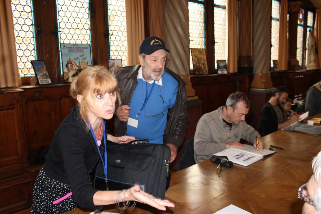 Francis Bergèse et son épouse aux côtés de Jusseaume à Colmar en 2013