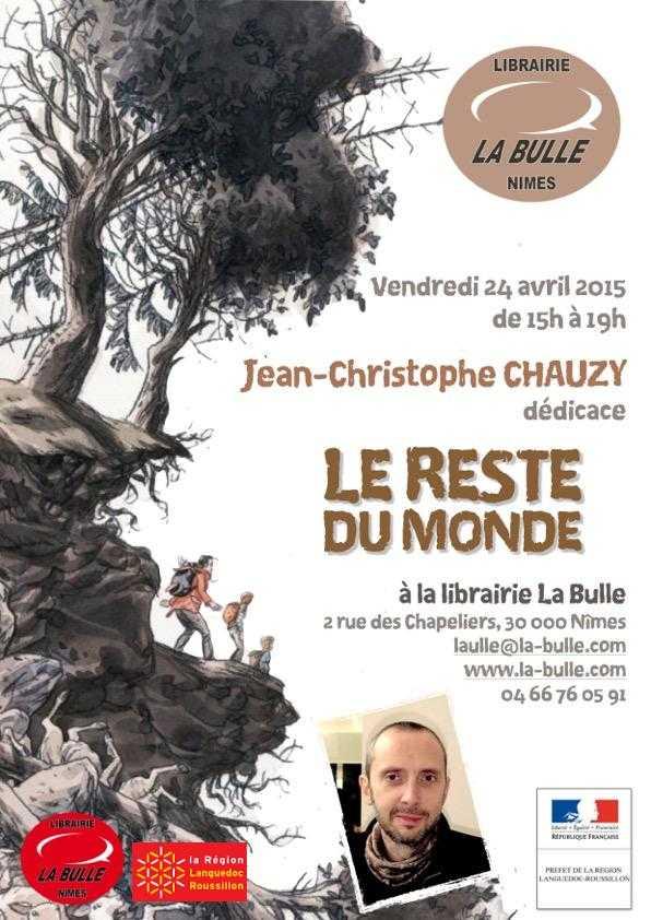 Carita Lupattelli et Jean-Christophe Chauzy en dédicace le 24 avril à Nîmes à la librairie La Bulle