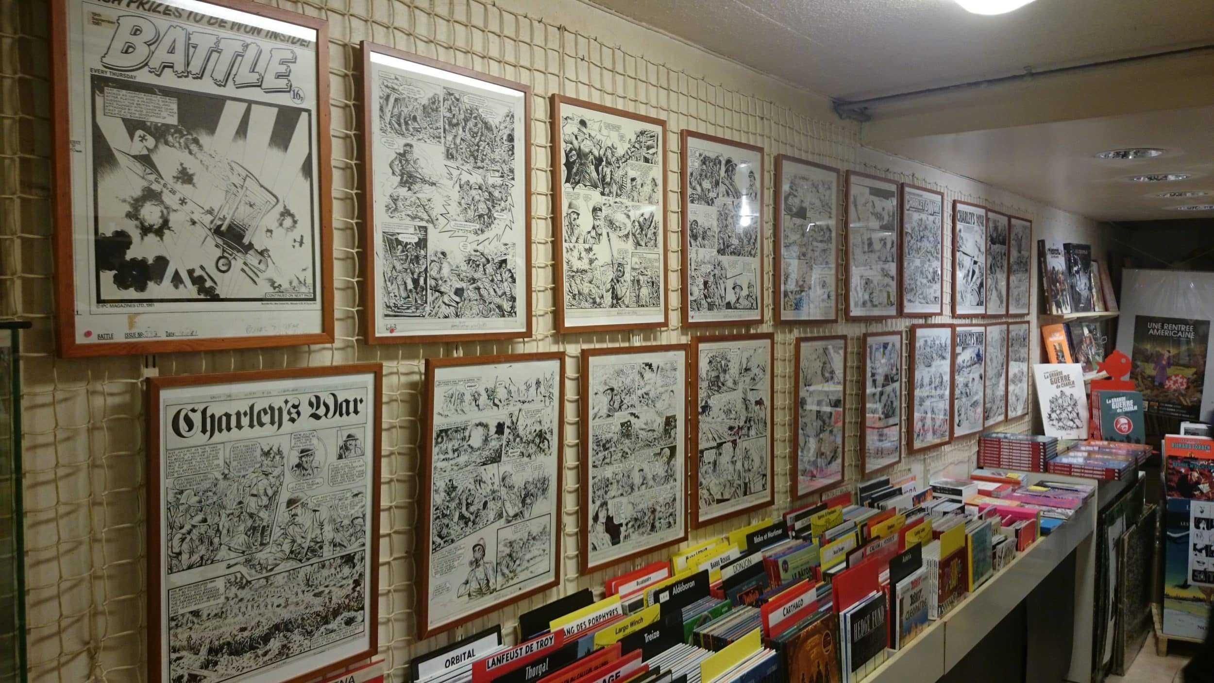 """Succès de l'exposition """"La Grande Guerre de Charlie"""" à Paris à la librairie Super-Héros"""