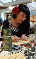 Maly Siri en dédicace à la librairie La Bulle à Nîmes le 20 juin