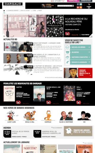 Dargaud a refait son site web
