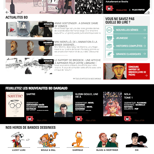 Dargaud a refait son site web