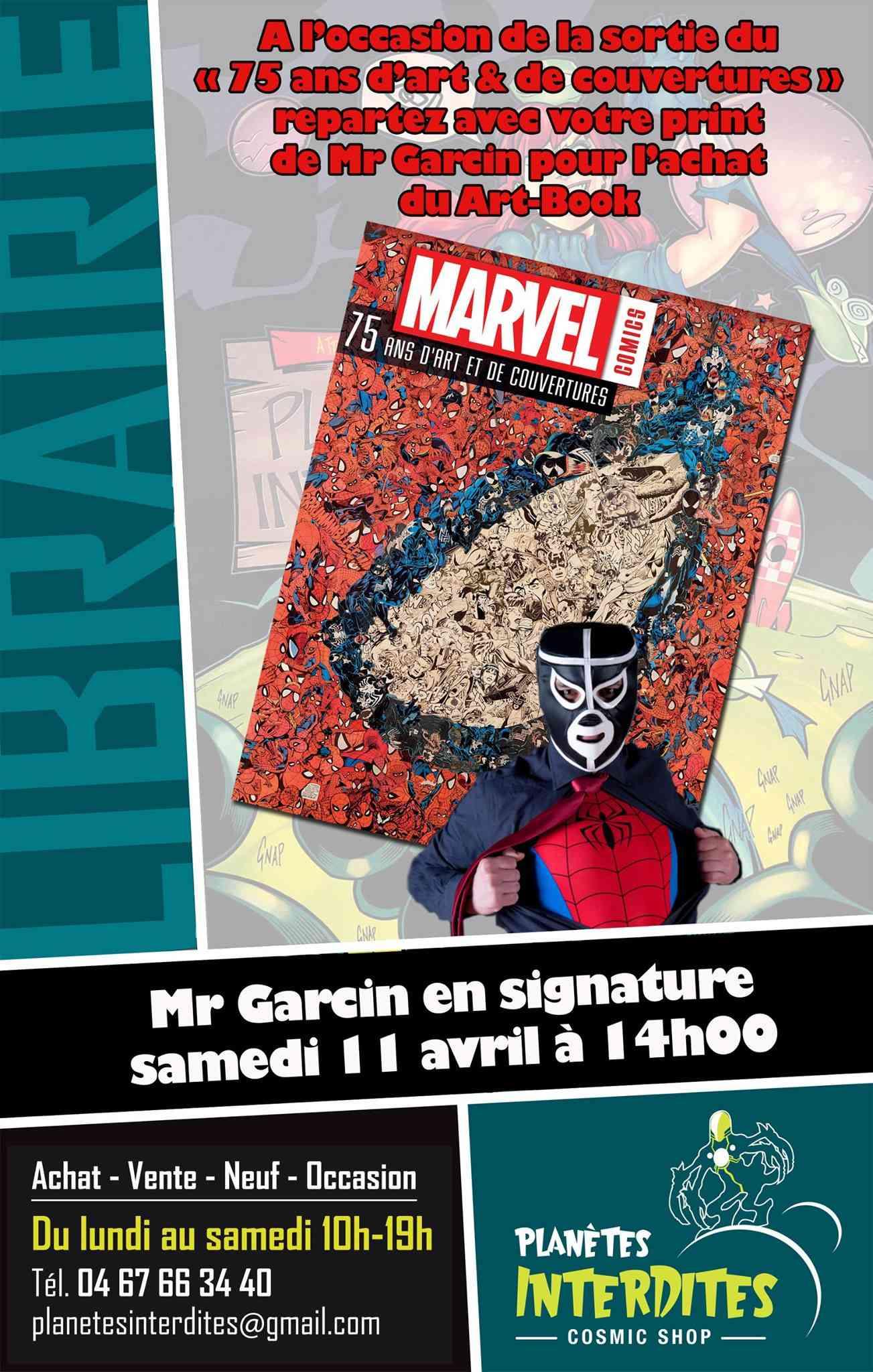 Mr. Garcin le 11 avril chez Planètes Interdites à Montpellier