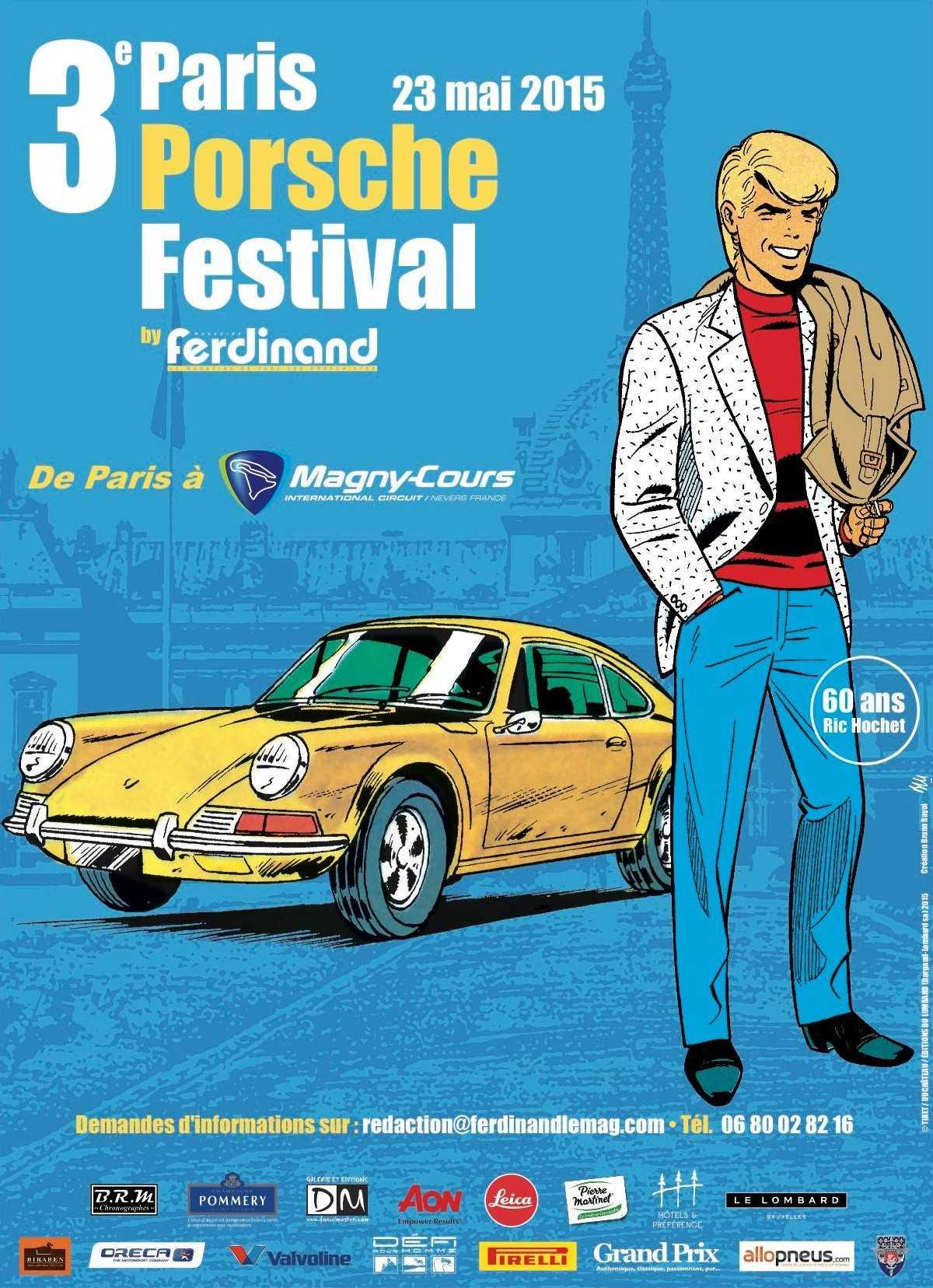 Pour les 60 ans de Ric Hochet, sa Porsche s'expose à Paris et une biographie de Tibet à la rentrée