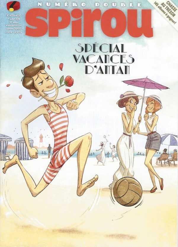 Spirou, un numéro spécial sur les vacances d'avant