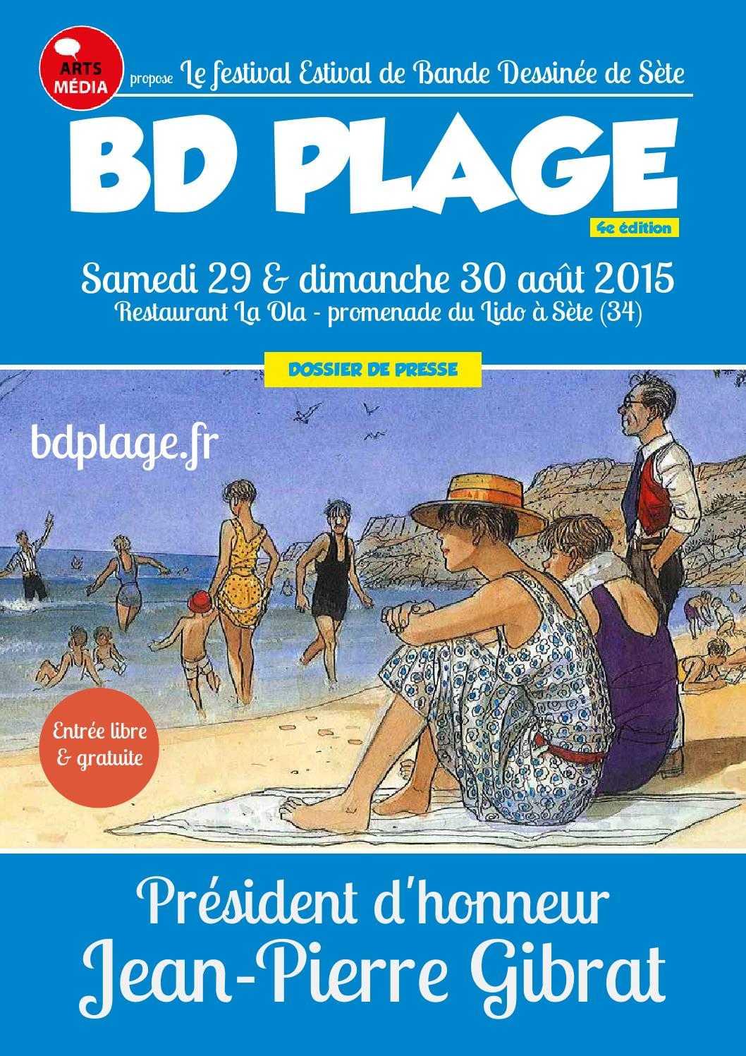 BD Plage à Sète, c'est ce week-end à La Ola avec Gibrat