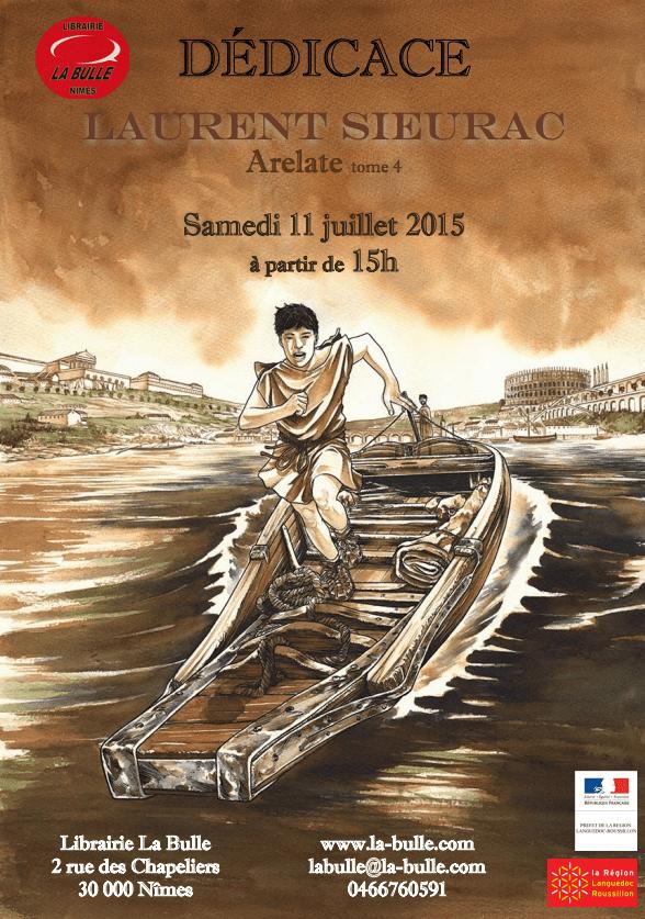 Laurent Sieurac en dédicace à La Bulle à Nîmes le 11 juillet