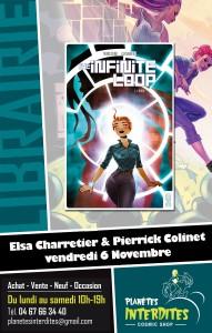 Elsa Charretier et Pierrick Colinet en dédicace le 6 novembre