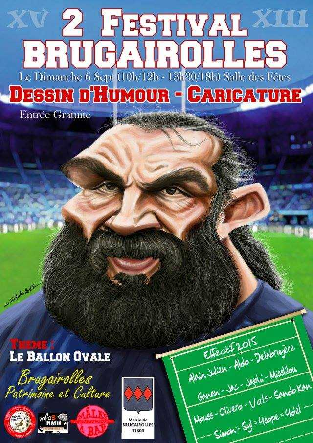 Festival de caricature et dessin d'humour de Brugairolles 2015