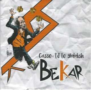 Fabcaro signe la pochette du disque de Bekar, Casse-Tête Yiddish