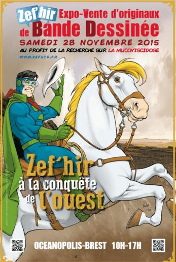 Une vente aux enchères d'originaux avec ZEF'HIR le 28 novembre à Brest pour aider la recherche contre la mucoviscidose