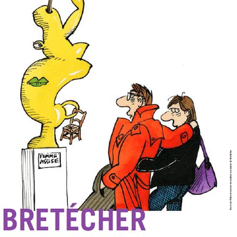 Claire Bretécher BDessineuse expose chez Huberty et Breyne à Paris