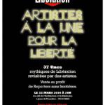 Artistes à la Une avec RSF et Libération pour une vente chez Millon