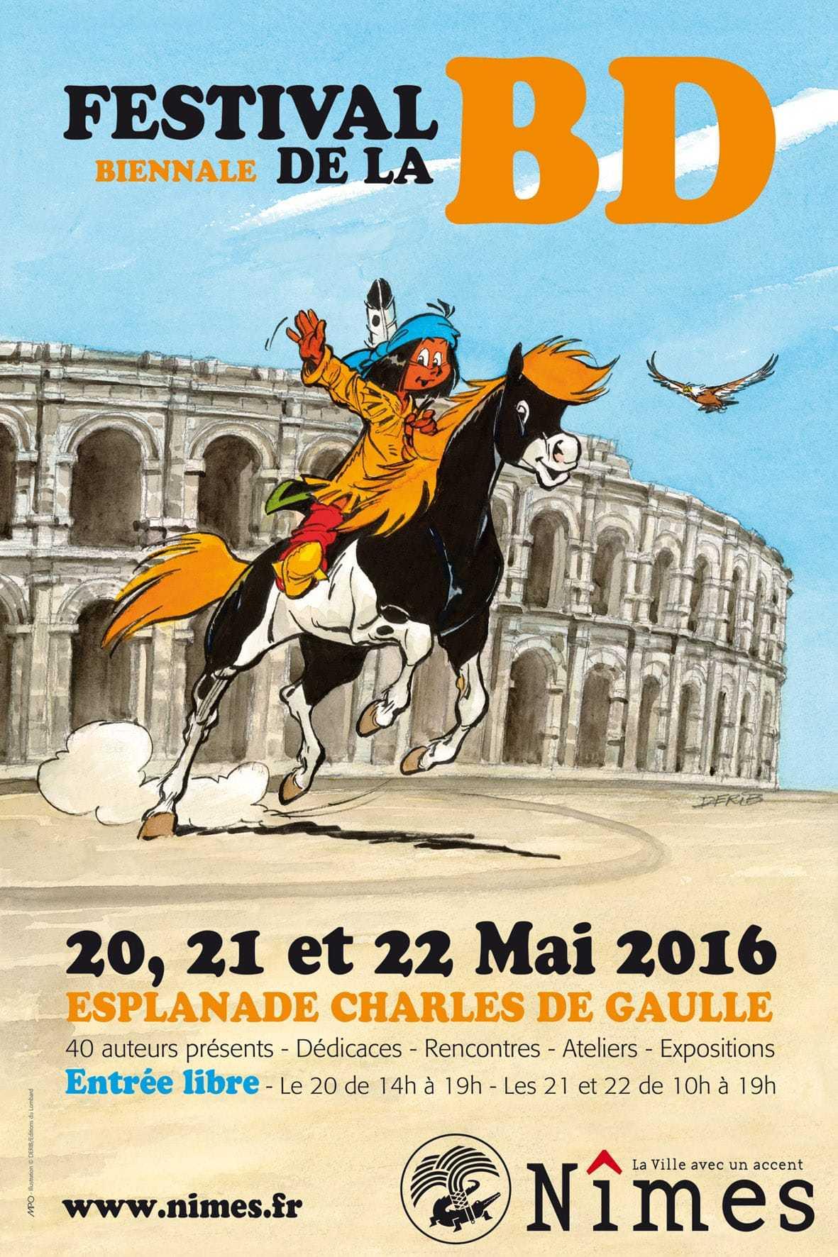 Festival de Nîmes, trois jours en mai sous le parrainage de Derib