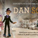 Dan avec son Soda expose à la galerie Maghen
