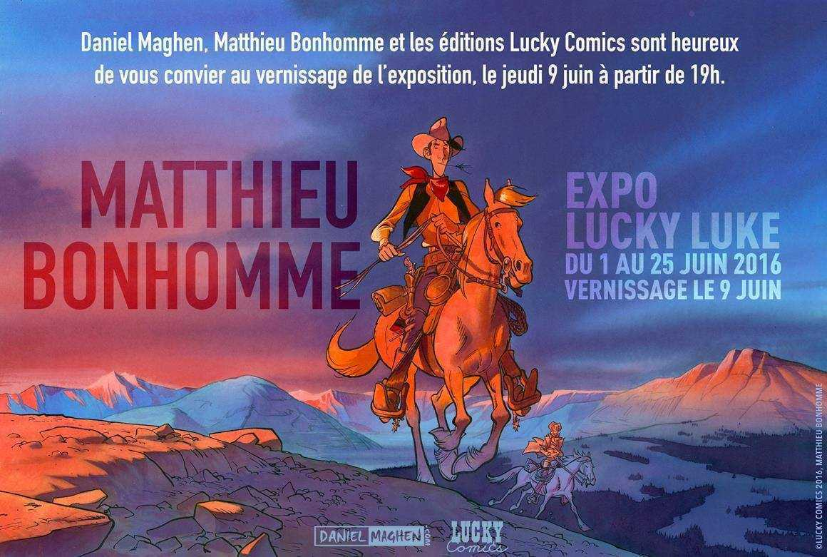 Matthieu Bonhomme expose chez Maghen avec son Lucky Luke du 1er au 25 juin