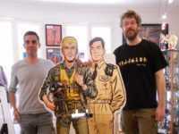 Jean-Michel Arroyo, Buck Danny, Tanguy, le très grand Matthieu Durand pour une photo souvenir. (Azimuts ®)