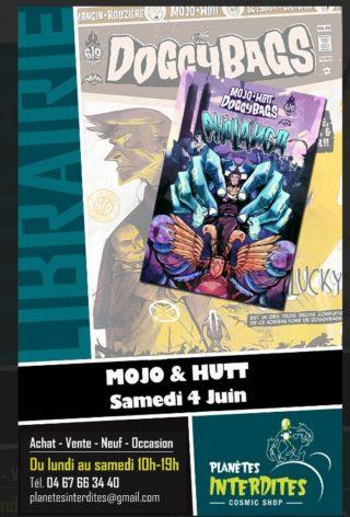 Mojo et Hutt en dédicaces chez Planètes Interdites à Montpellier le 4 juin