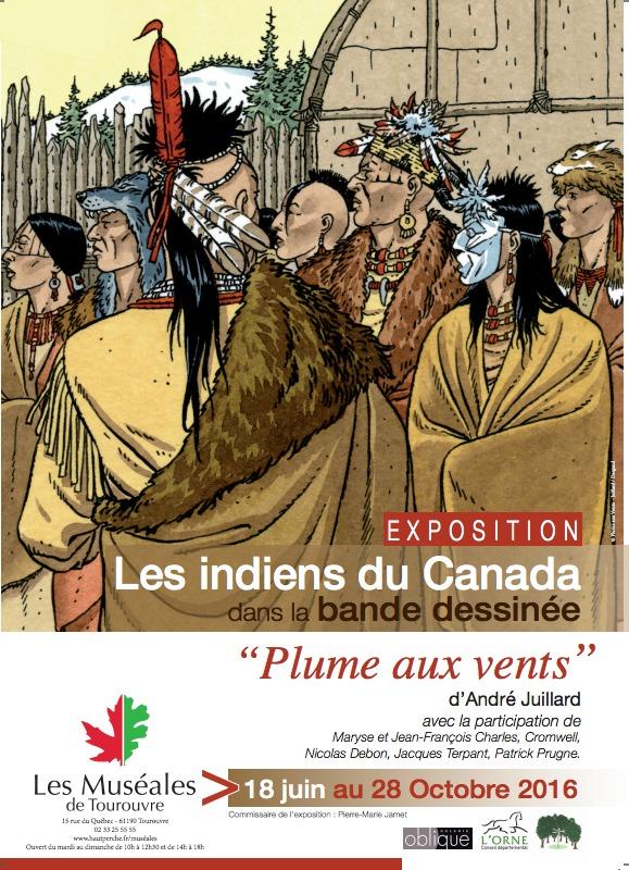Indiens du Canada, une exposition avec Juillard et Plume aux vents dans la cadre des Muséales de Tourouvre