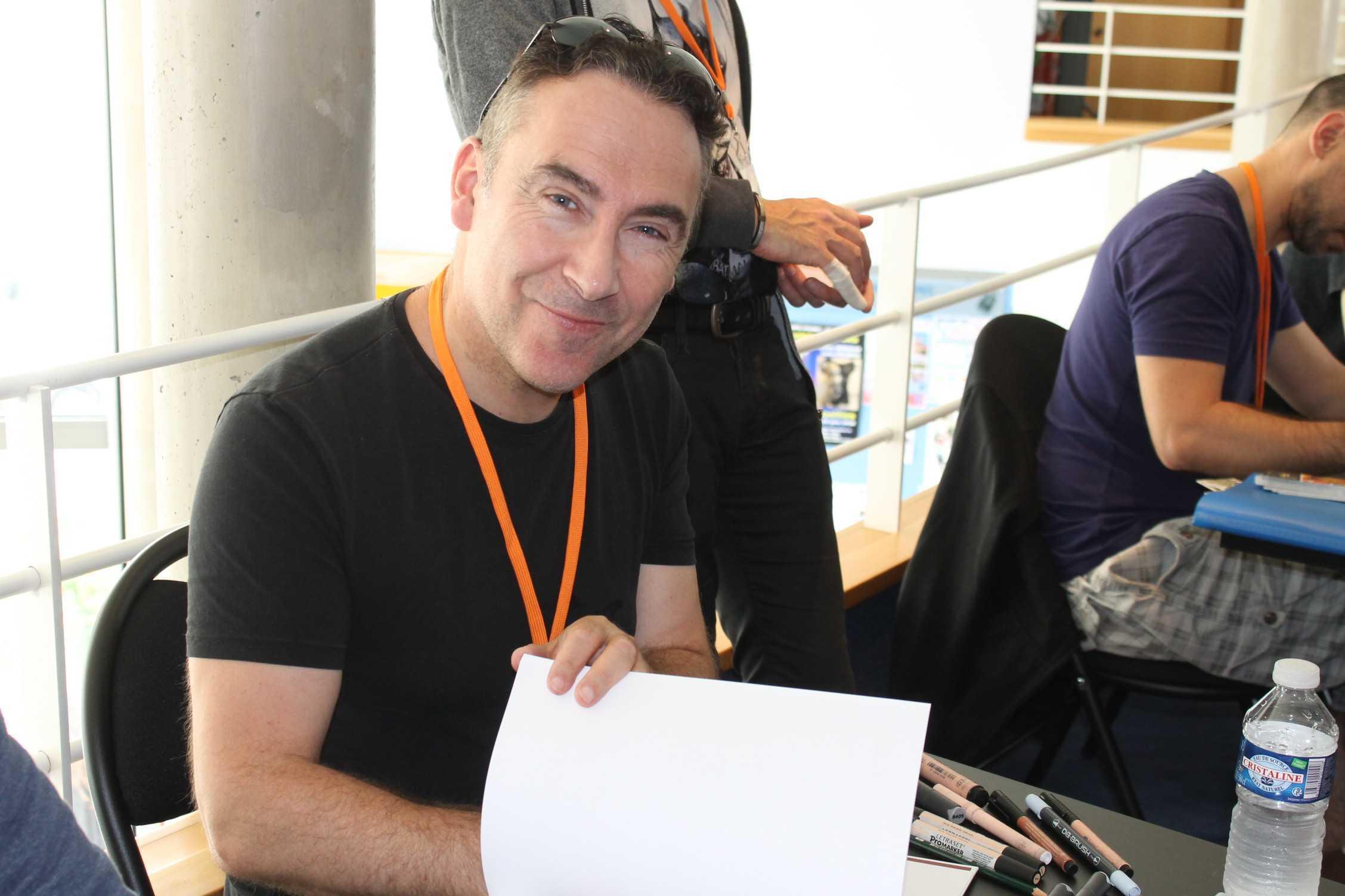Jim en dédicace à Nîmes à la librairie La Bulle pour la sortie du tome 3 d'Une Nuit à Rome