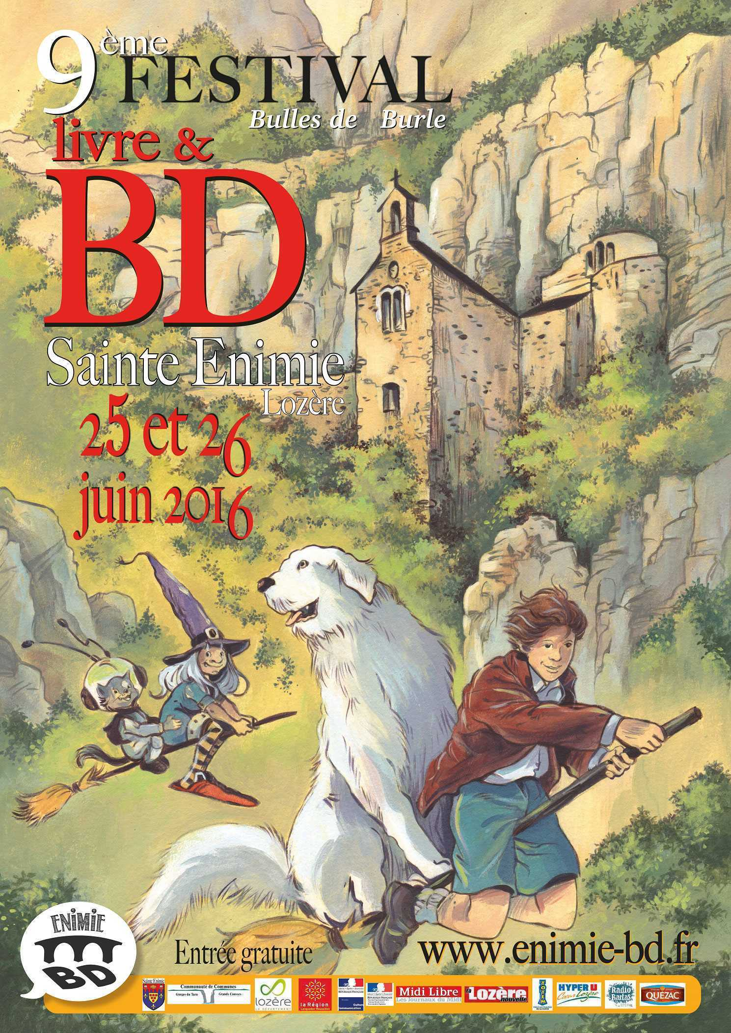 Festival BD 2016 à Sainte-Enimie en Lozère, c'est les 25 et 26 juin